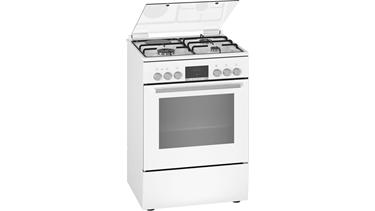 HXC390G20T Serie 6 Gazlı/Elektrikli Solo Fırın Beyaz