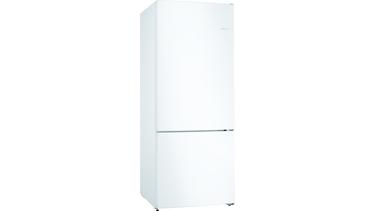KGN76VWF0N NoFrost, Alttan donduruculu buzdolabı Beyaz kapılar