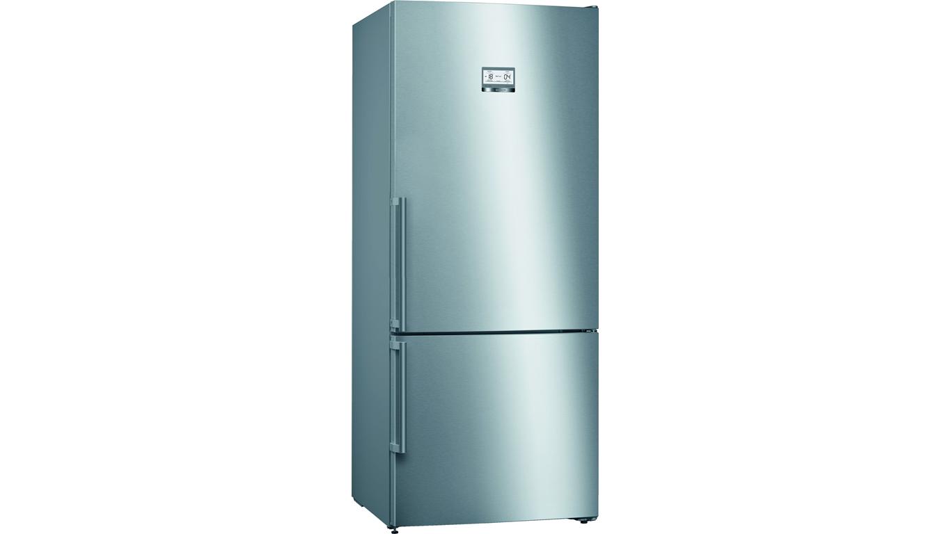 KGN76AIF0N NoFrost, Alttan donduruculu buzdolabı Kolay temizlenebilir inox kapılar,Buzdolapları Kategorisinde,Alttan Donduruculu Buzdolapları Ürünü.