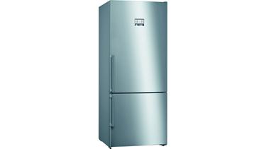 KGN76AIF0N NoFrost, Alttan donduruculu buzdolabı Kolay temizlenebilir inox kapılar