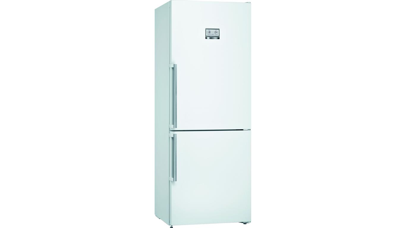KGN76AWF0N NoFrost, Alttan donduruculu buzdolabı Parlak beyaz kapılar,Buzdolapları Kategorisinde,Alttan Donduruculu Buzdolapları Ürünü.