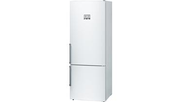 KGN56AWF0N NoFrost, Alttan donduruculu buzdolabı Parlak beyaz kapılar