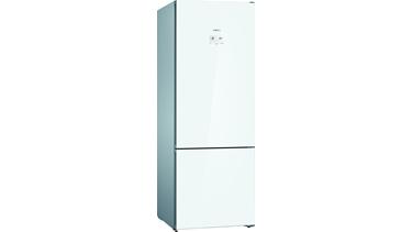 KGN56LWF0N NoFrost, Alttan donduruculu buzdolabı Cam Beyaz kapılar