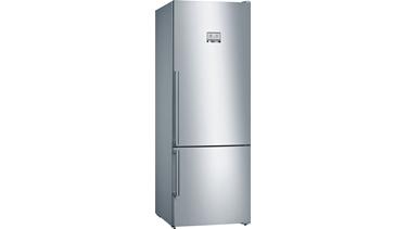 KGN56HIF0N NoFrost, Alttan donduruculu buzdolabı Kolay temizlenebilir inox kapılar Home Connect, Kameralı Buzdolabı