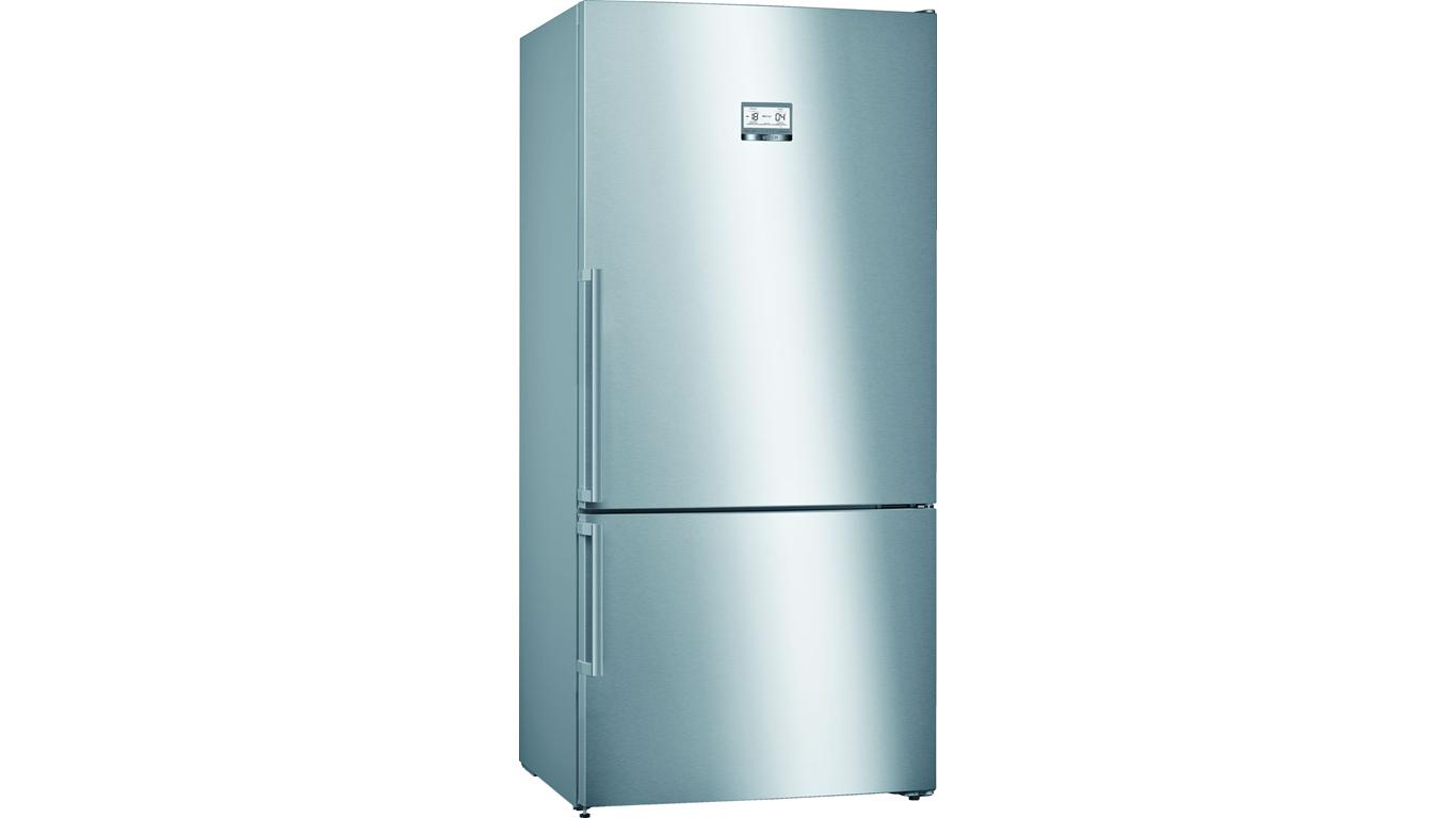 KGN86AIF0N NoFrost, Alttan donduruculu buzdolabı Kolay temizlenebilir inox kapılar,Buzdolapları Kategorisinde,Alttan Donduruculu Buzdolapları Ürünü.