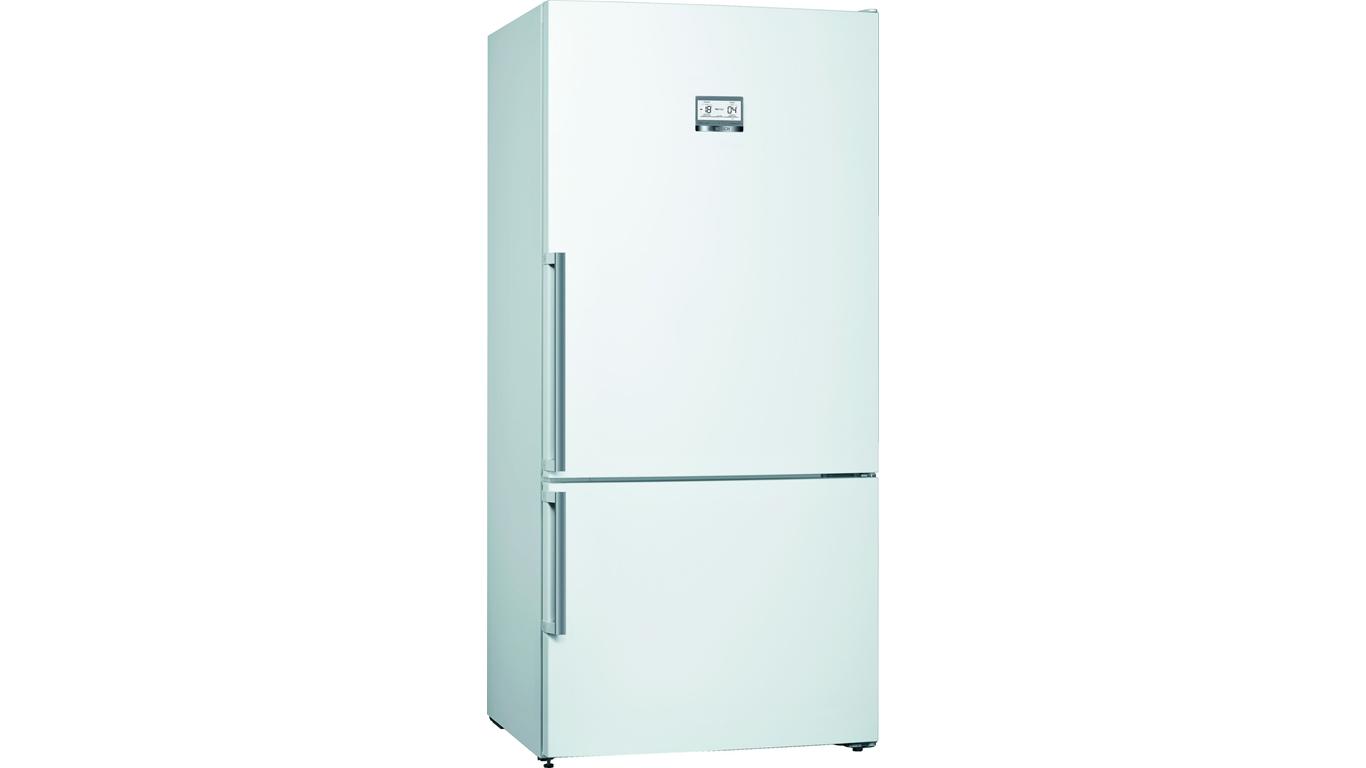 KGN86AWF0N NoFrost, Alttan donduruculu buzdolabı Parlak beyaz kapılar,Buzdolapları Kategorisinde,Alttan Donduruculu Buzdolapları Ürünü.
