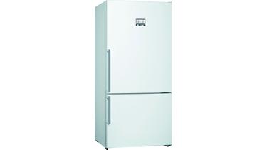 KGN86AWF0N NoFrost, Alttan donduruculu buzdolabı Parlak beyaz kapılar