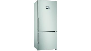 KGA76PIF0N NoFrost, Serie 8 Alttan donduruculu buzdolabı Kolay temizlenebilir inox kapılar