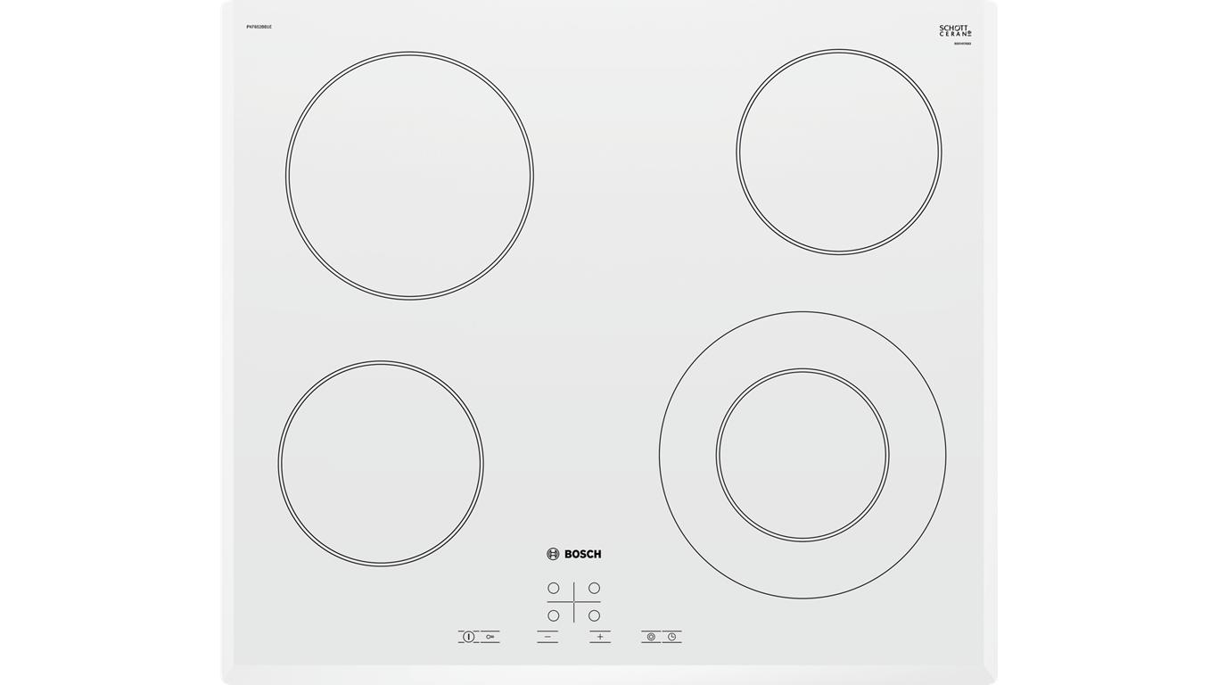 PKF652BB1E Serie 6 Elektrikli Ocak 60 Cm Beyaz,Pişirme Grubu Kategorisinde,Ankastre Ocaklar Ürünü.
