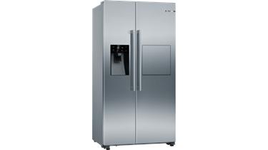 Bosch KAG93AI30N Gardırop Tipi Buzdolabı. 178.7 X 90.8 Cm. Kolay Temizlenebilir Inox.