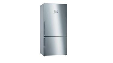 Bosch KGN86HIF0N Alttan Donduruculu Buzdolabı. 187 X 86 Cm. Kolay Temizlenebilir Inox.