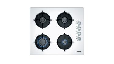 Bosch POP6C2O10L Gazlı Ocak. 60 Cm. Sert Cam, Beyaz.
