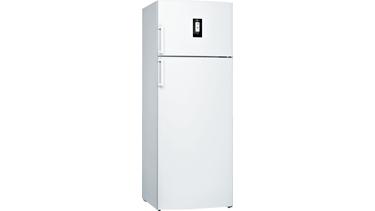 KDN56PW32N NoFrost, Üstten donduruculu buzdolabı Parlak beyaz kapılar