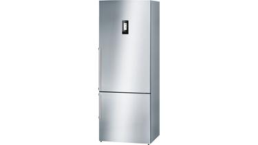 KGN57PI26N NoFrost, Alttan donduruculu buzdolabı Kolay temizlenebilir inox kapılar