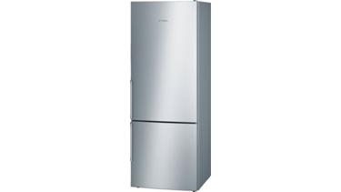 KGE58BI44N LowFrost, Kombi buzdolabı Kolay temizlenebilir inox kapılar