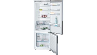 KGE58DL30N LowFrost, Alttan donduruculu buzdolabı Inox görünümlü kapılar