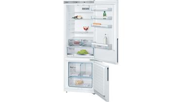 KGE58DW30N LowFrost, Alttan donduruculu buzdolabı Beyaz kapılar