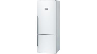 KGN56PW32N NoFrost, Alttan donduruculu buzdolabı Parlak beyaz kapılar