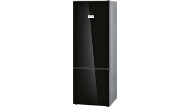 KGN56HB40N NoFrost, Alttan donduruculu buzdolabı Cam Siyah kapılar Home Connect