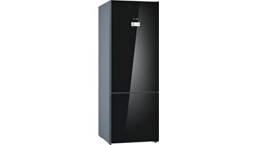 KGN56LB30N NoFrost, Alttan donduruculu buzdolabı Cam Siyah kapılar