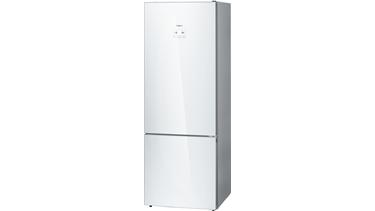 KGN56LW30N NoFrost, Alttan donduruculu buzdolabı Cam Beyaz kapılar