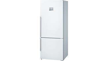 KGN76AW30N NoFrost, Alttan donduruculu buzdolabı Parlak beyaz kapılar