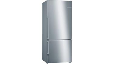 KGN76DI30N NoFrost, Alttan donduruculu buzdolabı Kolay temizlenebilir inox kapılar