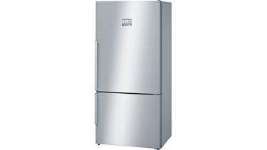 KGN86AI30N NoFrost, Alttan donduruculu buzdolabı Kolay temizlenebilir inox kapılar