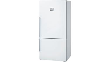 KGN86AW30N NoFrost, Alttan donduruculu buzdolabı Parlak beyaz kapılar