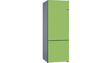 KVN56IH3AN NoFrost, Alttan donduruculu buzdolabı Limon Yeşili kapılar VarioStyle