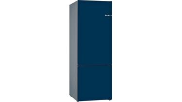 KVN56IN3AN NoFrost, Alttan donduruculu buzdolabı Gece Mavisi kapılar VarioStyle