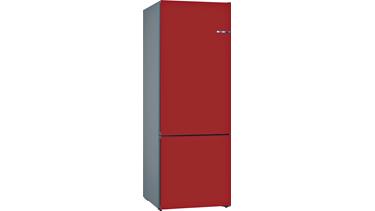 KVN56IR3AN NoFrost, Alttan donduruculu buzdolabı Kırmızı kapılar VarioStyle