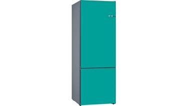 KVN56IU3AN NoFrost, Alttan donduruculu buzdolabı Turkuaz kapılar VarioStyle