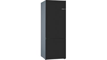 KVN56IZ3AN NoFrost, Alttan donduruculu buzdolabı Mat Siyah kapılar VarioStyle